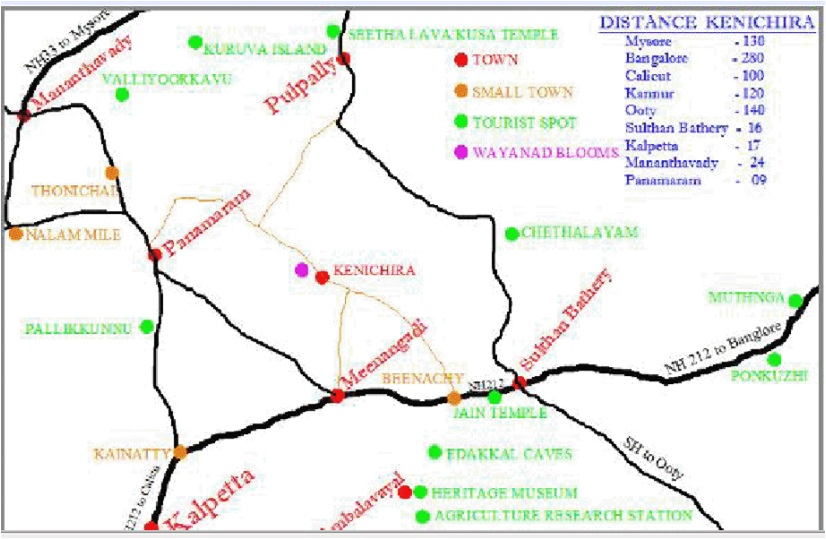munnar tourist map with distance pdf
